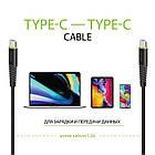 Кабель Intaleo CBFLEXTT1 USB Type-C-USB Type-C 1.2 м Black (1283126501296), фото 3