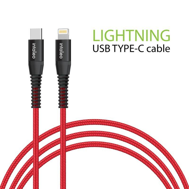 Кабель Intaleo CBRNYTL1 USB Type-C-Lightning 1.2м Red (1283126504129)