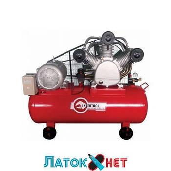Компрессор 300л 8атм 2000л/мин 380В PT-0052 Intertool 15кВт 20HP 3 цилиндра