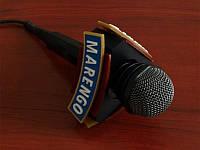 Насадка на мікрофон з логотипом трикутна (Ширина: 100 мм; Висота: 40мм;), фото 1