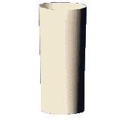 Труба 90мм Plastmo (белый, коричневый), фото 1