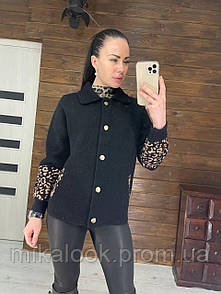 Женское короткое пальто из мериносовой шерсти альпака