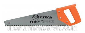 Ножівка по дереву 400 мм, пластикова ручка (Сталь, 40105)
