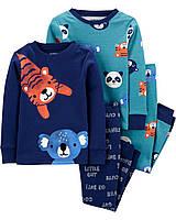 Комплект хлопковых пижам с длинным рукавом для мальчика Carters Животные