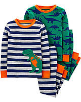 Комплект хлопковых пижам с длинным рукавом для мальчика Carters Динозавр