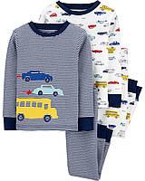 Комплект хлопковых пижам с длинным рукавом для мальчика Carters Машины