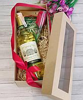 Подарочный набор с Французким вином для девушки, кумы, подруги. Подарок на 8 марта или Валентинов день., фото 1