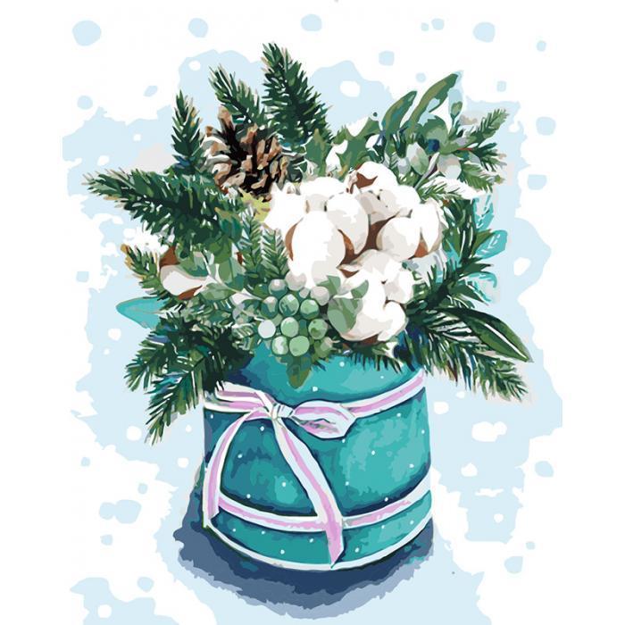 Картина рисование по номерам Идейка Фарби зими 2 40х50см КНО3029 набор для росписи, краски, кисти, холст