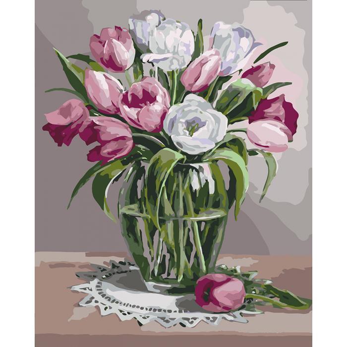 Картина рисование по номерам Идейка Весняний аромат 40х50см КНО3041 набор для росписи, краски, кисти, холст