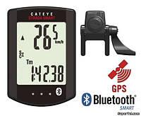 Велокомпьютер беспроводной CatEye Strada Smart CC-RD500B + датчик каденса, черный