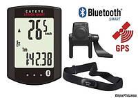 Велокомпьютер беспроводной CatEye Strada Smart CC-RD500B + датчики каденса и сердцебиения, черный
