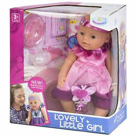 Пупс фея функциональный Warm Baby в розовом платье 42 см интерактивный кукла большая с аксессуарами (471)