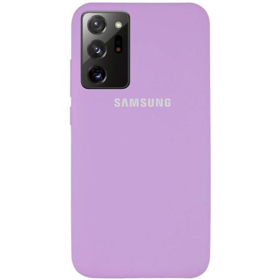 Чехол Original Silicone Case c закрытым низом (AA) для Samsung Galaxy Note 20 Ultra
