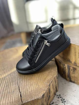 Подростковые кеды кожаные весна/осень черные Emirro 21-04 Black Edition, фото 2