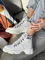Женские ботинки кожаные весна/осень белые Vankristi 010 Байка, фото 3