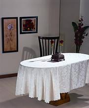 Скатерть атласная с розой 152 -220