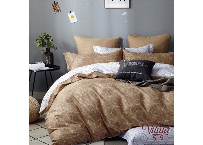 Комплект постельного белья Евро Сатин Twill 519