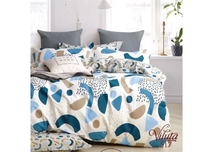 Комплект постельного белья Евро Сатин Twill 517
