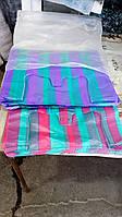 Полосатые пакеты майка 35/60 см цветные полиэтиленовые, фото 1