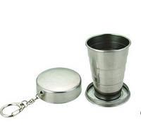 Складной стакан брелок с карабином 140 мл