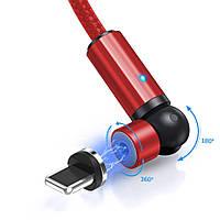 Магнітний кабель для зарядки Topk iPhone 1m 2.4 A 540° Червоний (TK68i-VER2-RD)