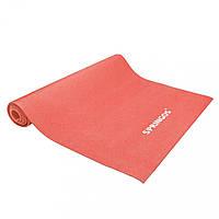 Килимок (мат) для йоги та фітнесу Springos PVC 4 мм YG0036 Red