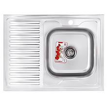 Мийка кухонна ZERIX Z8060R-08-180MD (dekor) (ZS0610)