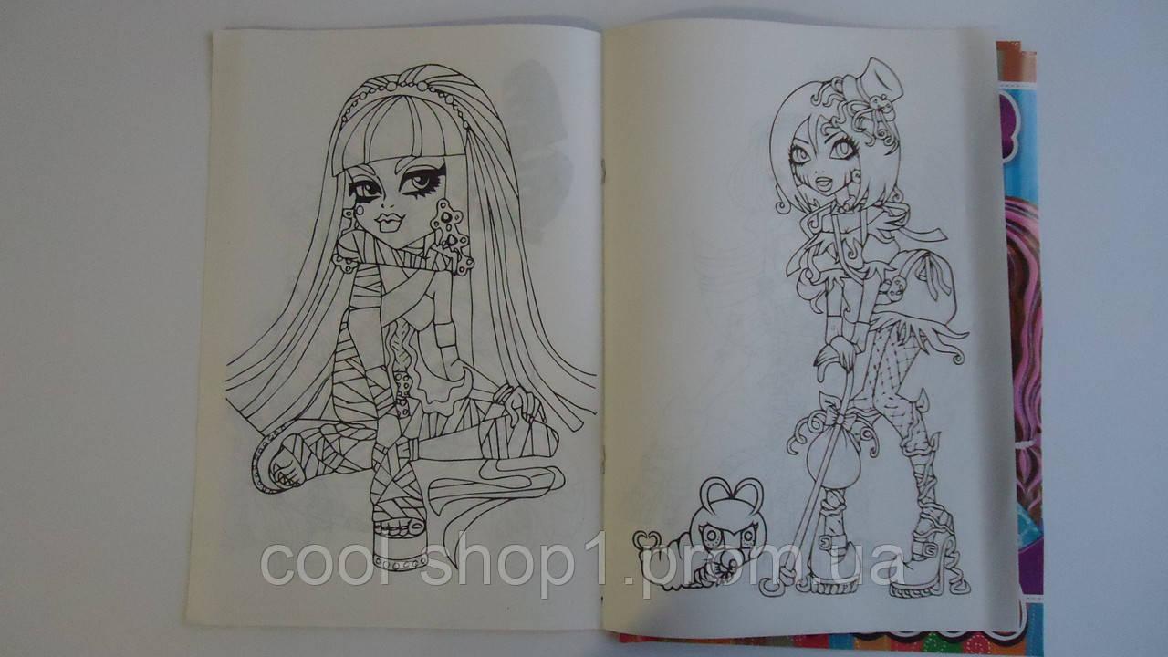 раскраска монстер хай 3 а4 8рис для девочки раскраски Monster High раскраски для девочек розмальовка монстер х