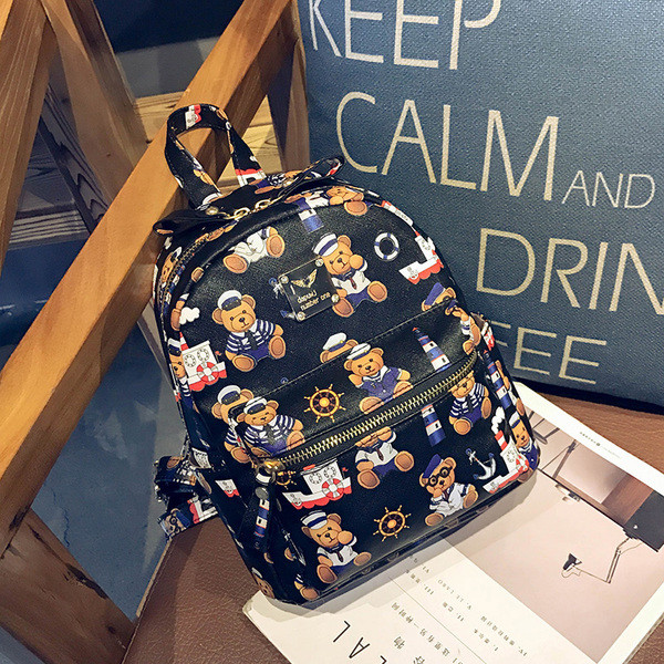 Чорний рюкзак Ведмедик