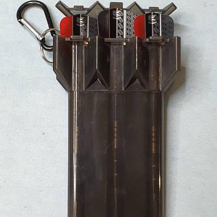 Дартс дротики из латуни Black Jack с футляром на брелке, фото 2