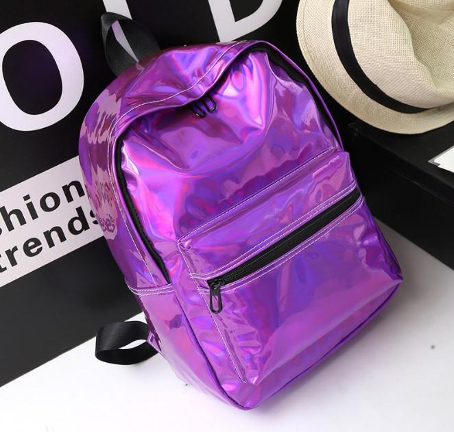 Рюкзак голограммный фіолетовий