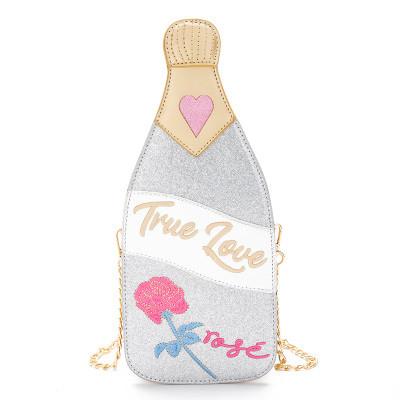 """Срібляста сумка у вигляді пляшки шампанського """"True love"""""""