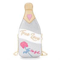 """Срібляста сумка у вигляді пляшки шампанського """"True love"""", фото 1"""
