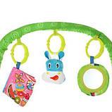 Дитячий шезлонг-гойдалка з підвісками, музикою і вібрацією для дитини з народження 303-5, колір зелений, фото 3