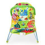 Дитячий шезлонг-гойдалка з підвісками, музикою і вібрацією для дитини з народження 303-5, колір зелений, фото 4