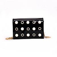 Чорна сумка з перлами, фото 1