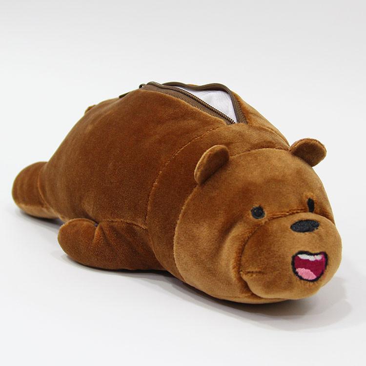 Пенал коричневый Медведь