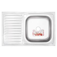 Кухонна мийка накладна ZERIXZ8050R-06-160E (satin) (ZX1613)