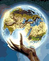 """Картина по номерам """"Планета Земля"""" 40*50 см в коробке, ArtStory + акриловый лак"""