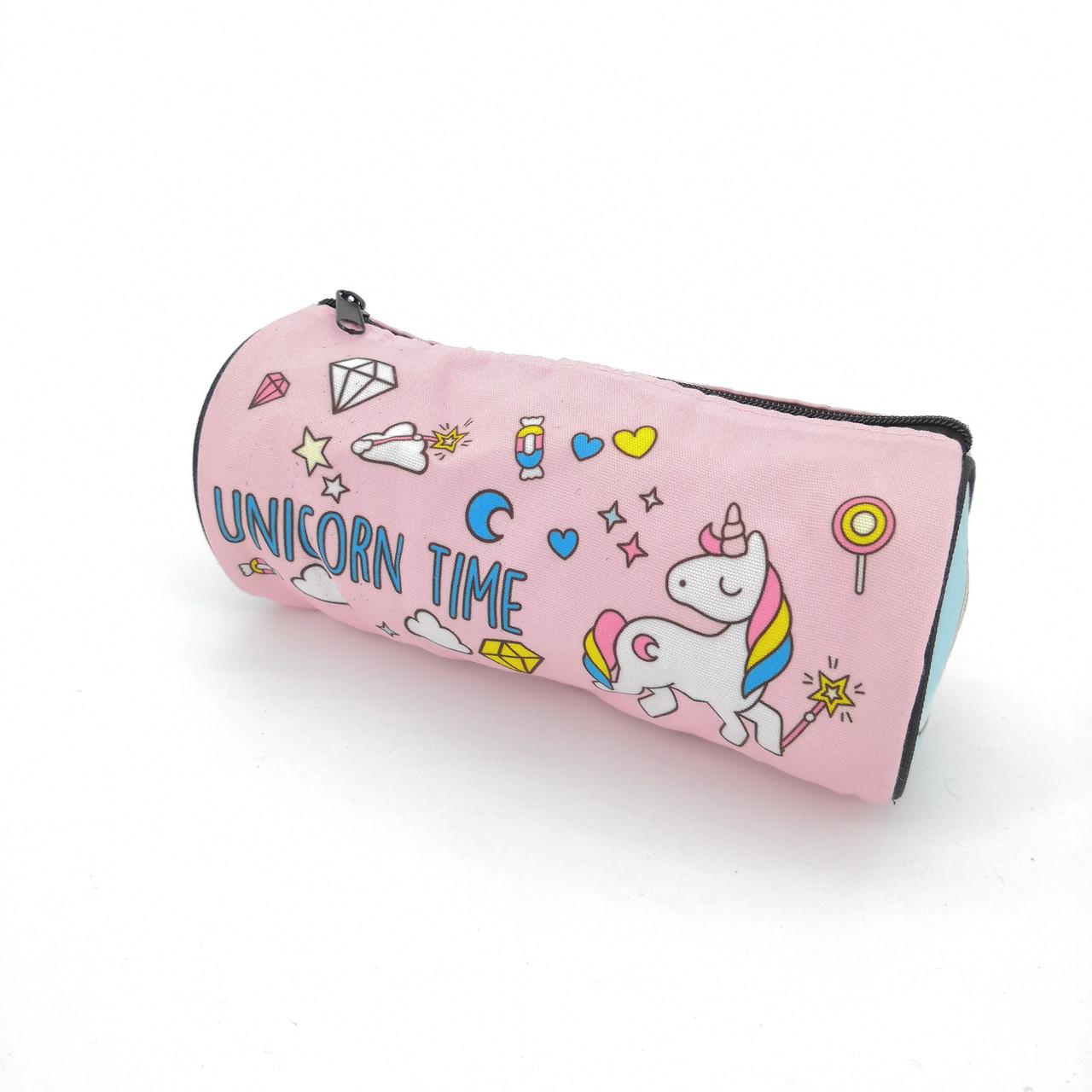 """Товар с дефектом. Пенал розовый """"Unicorn time"""""""