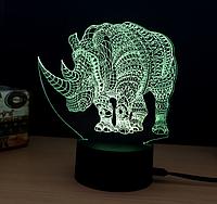 """Ночник 3D """"Носорог"""""""