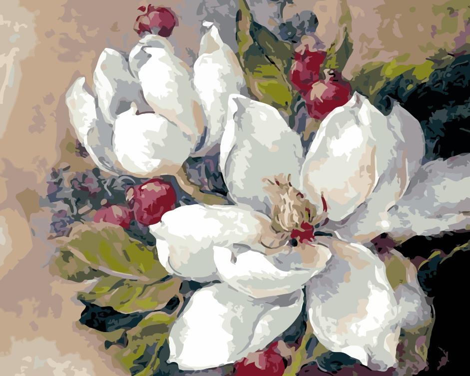 """Картина за номерами """"Цвітіння"""" 40*50 см в коробці, ArtStory + акриловий лак"""