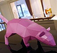Крыса 3Д модель papercraft