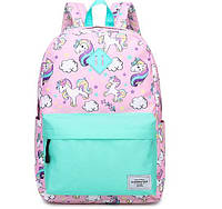 Рюкзак рожевий Єдинороги, фото 1