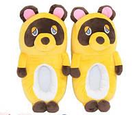 Тапочки Мишки плюшевые желтые, 36-40, фото 1