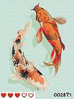 Картина по номерам Карпы Кои + ЛАК , ТМ Барви, 40*50 см,без коробки