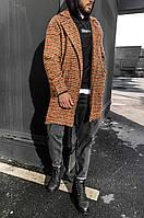 Мужское пальто Теракот в полоску