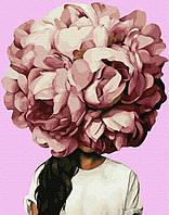 Картина по номерам. Эми Джадд Пионы, 40*50 см, Brushme, Премиум, цветной холст, лак  в комплекте