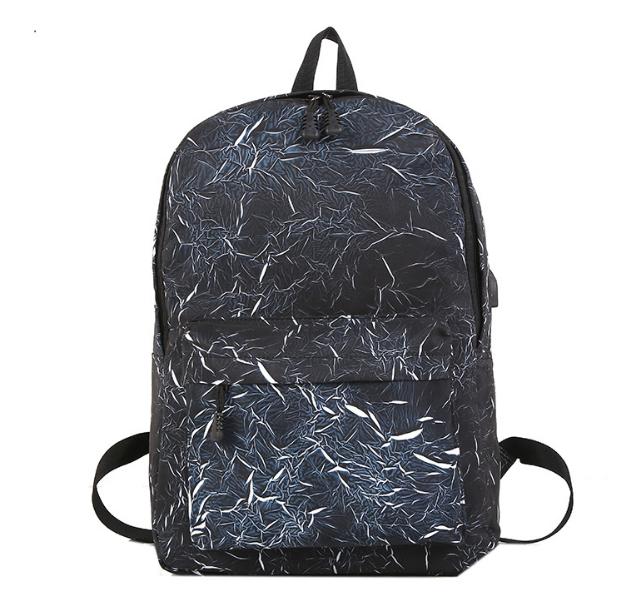 Рюкзак чорний з синім з USB