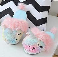 Разноцветные тапочки игрушки Единороги размер 35-38, стелька 24,5 см, фото 1